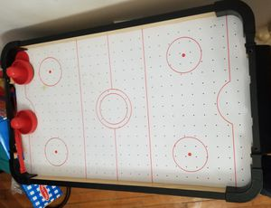 Pending sale Table top battery operated air hockey game for Sale in Appleton, WI