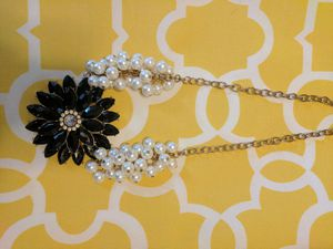 Elegant flower and pearl necklace for Sale in Rockville, MD