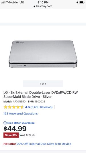 LG DVD/CD Writer for Sale in Midland, TX