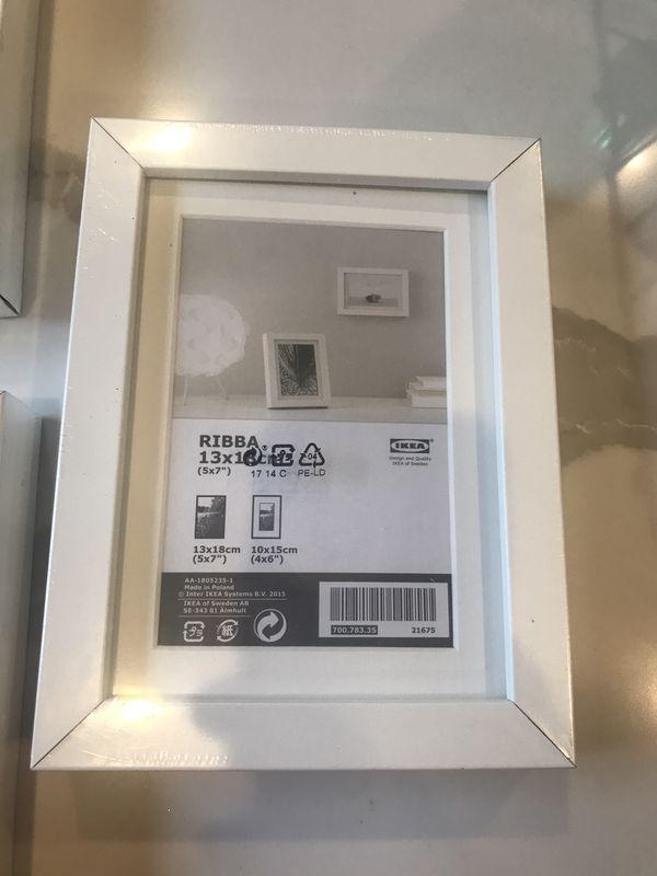 """3 White frame. 5x7"""""""