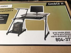 Brand New never opened Glass and Metal Desk for Sale in Clovis, CA