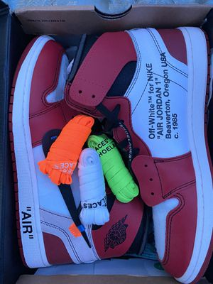 OFF-WHITE x Air Jordan 1 Retro High OG 'CHICAGO'. Size 13. AA3834 101 for Sale in Miami, FL