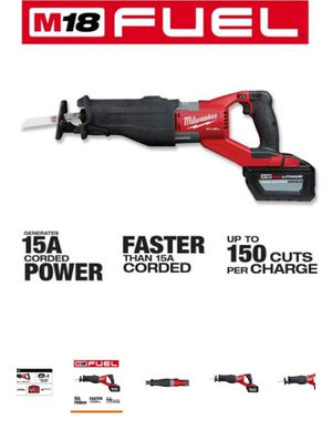 Milwaukee M18 FUEL 18-Volt Lithium-Ion Brushless Cordless SUPER SAWZALL Orbital Reciprocating Saw Kit w/(1) 12.0 Ah Battery for Sale in Cypress, TX