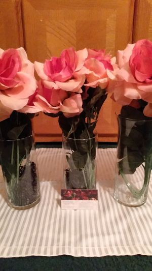 😀 $$ 12.00 (3) piece sets Pink flower vases Or $4.00 each locations: Solon, Southgate, Maple, Bedford, Garfield, University Circle, Cleveland area. for Sale in Solon, OH