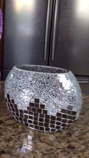 Jarrón de cristal plateado for Sale in Miami, FL