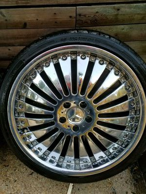 """4 - 20"""" CHROME RIMS & TIRES FOR MERCEDES-BENZ, BMW AND AUDI for Sale in Fort Washington, MD"""