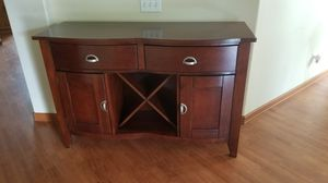 Serving table, wood table, end table for Sale in Hemet, CA