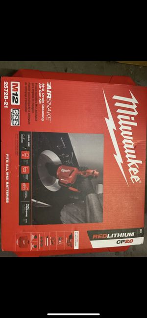 milwaukee drain cleaning air gun kit for Sale in Los Angeles, CA