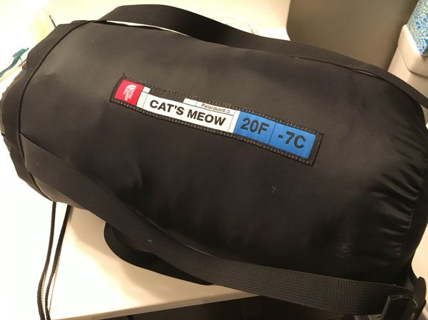 Sleeping bag- north face cats meow