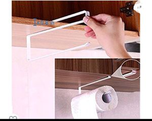 Paper Towel Holder Dispenser Under Cabinet Paper Roll Holder Rack Without Drilling for Kitchen Bathroom for Sale in Huntington Park, CA