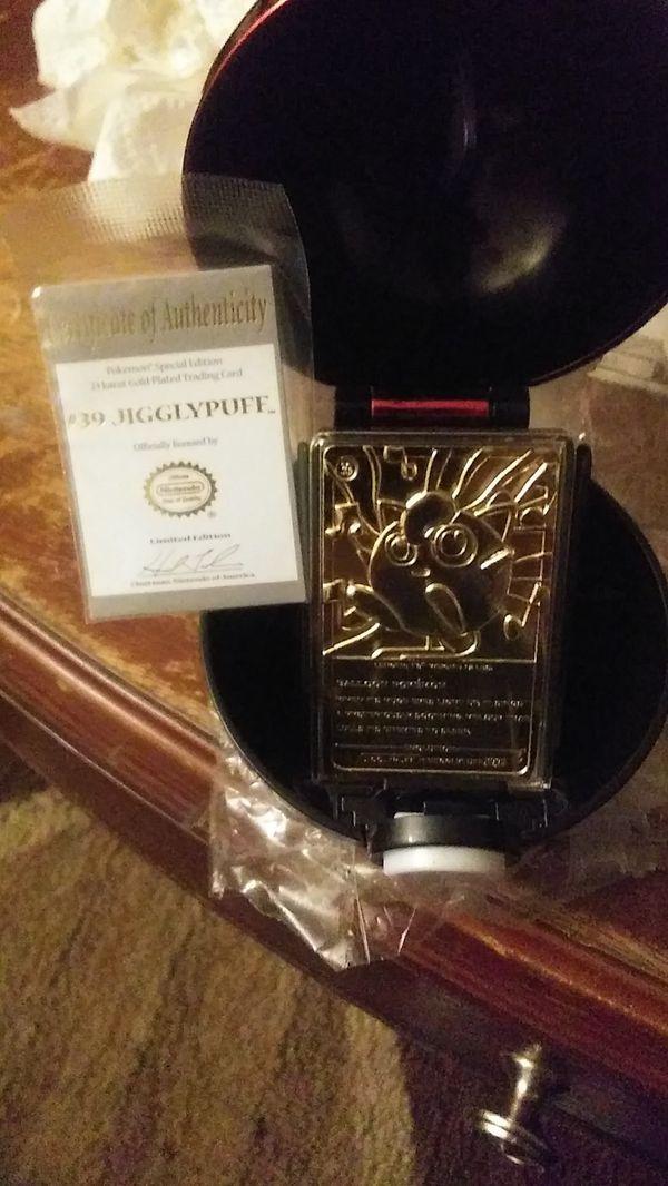 New 23 karat gold Collector's Pokeball W/ jigglypuff inside