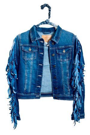 Denim Fringe Back Jacket for Sale in Columbus, OH