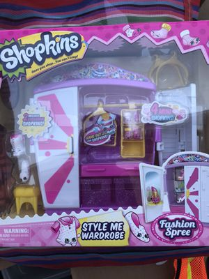 Shopkins style me wardrobe dresser playset exclusive shopkins for Sale in Lynwood, CA
