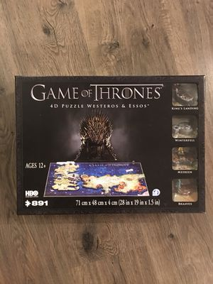 Game of Thrones 4D puzzle Westeros & Essos NEW for Sale in Bellevue, WA