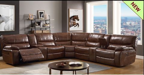 🔥New! Luxurious leather power sofa recliner sectional for Sale in San Diego,  CA
