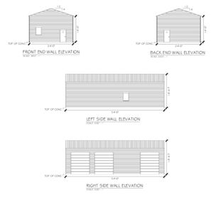 New 24' x 54' x 14' Steel Garage Building for Sale in Lee, MA