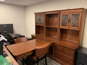 Aspenhome Richmond model classic desk with chairs for Sale in Denver, CO