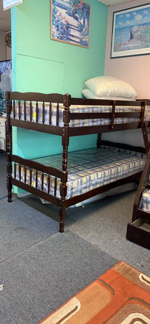 New Twin/Twin bunk bed $449 with mattress for Sale in Nashville, TN