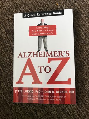 Alzheimer's book A to Z caregiver family help guide for Sale in Laguna Hills, CA