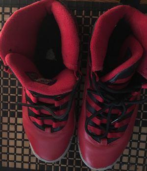 bdcdf50ddeb0b8 NIKE Boys   girl Air Jordan 10 Retro 30th BG Bulls Over Broadway Gym Red-