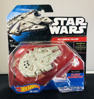 Disney Hot Wheels Star Wars Starship MILLENNIUM FALCON The Force Awakens #1 for Sale in Skokie, IL