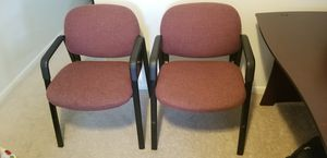 2 Burgundy office chairs for Sale in Erie, PA
