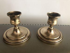 2 brass candle holders for Sale in Silver Spring, MD