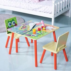 Kids Table And 2 Chairs Set With Cartoon Pattern BB5187 for Sale in Palmdale, CA