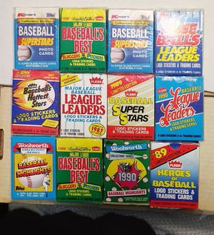Rare Unopened mini Baseball Card sets from 1986 to 1990..Mint Condition for Sale in Clarksville, IN