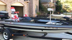 1992 stratos 274 bass boat (Jonson Evenrude V6 150) for Sale in Powder Springs, GA