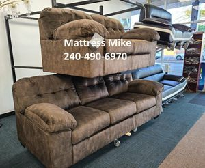 New Ashley furniture earth color sofa loveseat 2pc set for Sale in College Park, MD