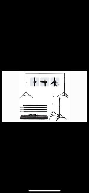 Photography background backdrop stand kit NOT FREE BEST OFFER for Sale in Miami, FL