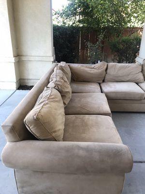 Tan Pottery Barn Sectional Sofa for Sale in Chula Vista, CA
