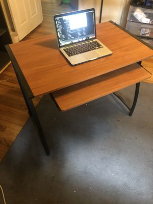 Desk with slide out keyboard stand for Sale in Tallahassee, FL