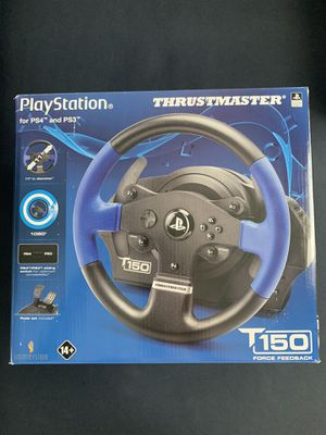 Thrustmaster T150 Racing Wheel & Pedal (PS4,PS3,PC) for Sale in Savage, MD