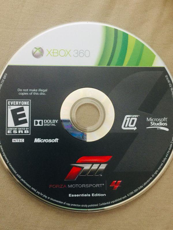 Xbox 360 power wheel with forza Horizon 4