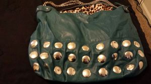 Leather teal purse or carry on for Sale in Peoria, AZ