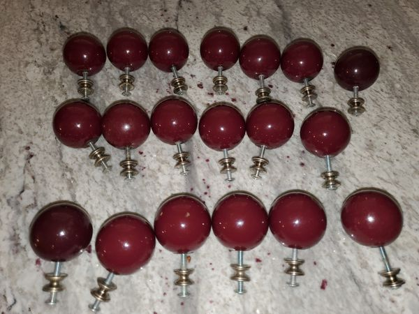 """Cabinet or drawer knobs. 2"""" in diameter."""