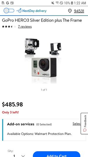 Gopro 3+ hero silver edition for Sale in Antioch, CA