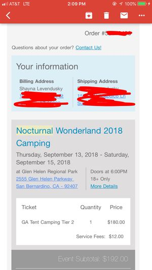 Nocturnal Wonderland Tent camping for Sale in Tempe, AZ