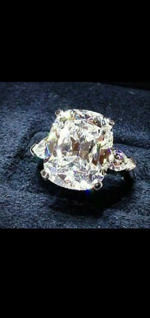 Fashion 925 Silver White Sapphire Gem Wedding Engagement Ring sz 9NEW for Sale in Round Rock, TX
