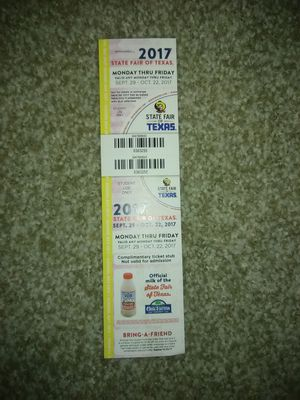 State Fair Ticket for Sale in Fort Worth, TX
