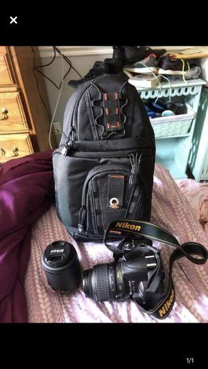 Nikon d3000 and 2 lenses for Sale in West Deptford, NJ