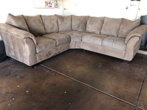 Light brown Two piece sectional for Sale in Gilbert, AZ