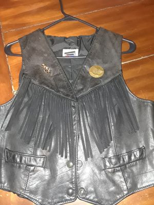 Leather vest, womens, frindge for Sale in Holyoke, MA