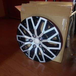 """16"""" Silver Black Set of 4 Wheel Covers Snap On Hub Caps fit R16 Tire & Steel Rim for Sale in Wheat Ridge, CO"""