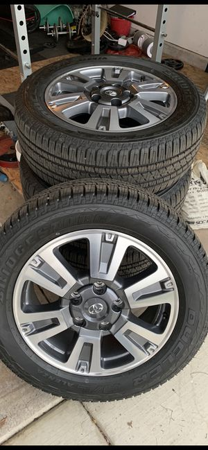 Toyota Tundra wheels, 2020 platinum 20's for Sale in Bakersfield, CA