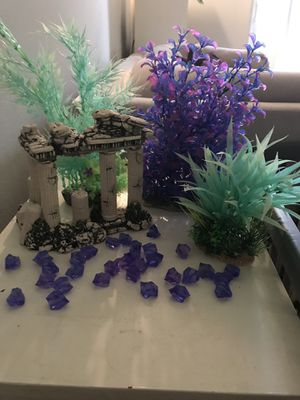 Aquarium plants, decor & gems for Sale in Attleboro, MA