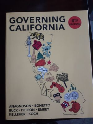 Governing California in the twenty-first century 6th edition for Sale in Riverside, CA