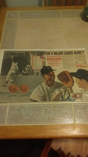 1963 AL KALINE BASEBALL GLOVE SPORTS AD for Sale in Baltimore, MD